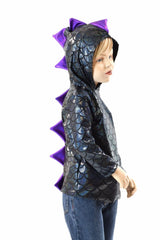 Childrens Black & Purple Dragon Hoodie - Coquetry Clothing