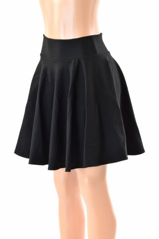 "19"" Black Zen Skater Skirt - Coquetry Clothing"