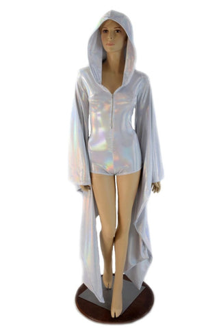 Flashbulb Kimono Sleeve Hoodie Romper - Coquetry Clothing