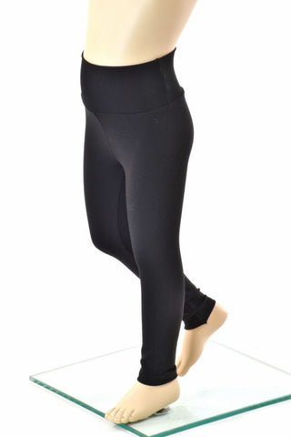 Kids Black Zen Soft Knit Leggings - Coquetry Clothing