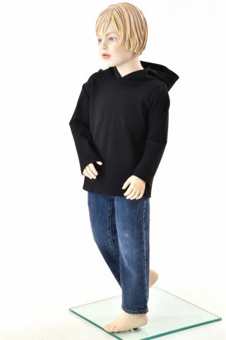 Childrens Black Zen Long Sleeve Hoodie - Coquetry Clothing