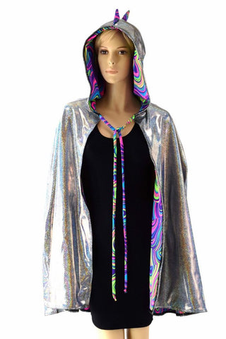 Reversible Spiked Hooded Cape - Coquetry Clothing