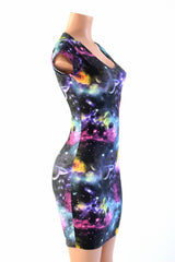 UV Glow Galaxy Dress - Coquetry Clothing