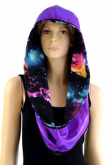 Galaxy & Grape Reversible Infinity Festival Hood - Coquetry Clothing