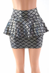 Mermaid Peplum Mini Skirt - Coquetry Clothing