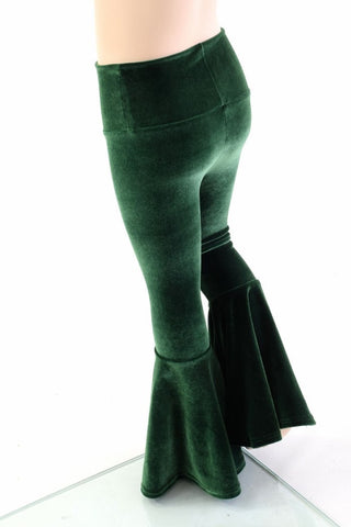 4095f6620ff7f ... Kids Green Velvet Flare Pants - Coquetry Clothing ...