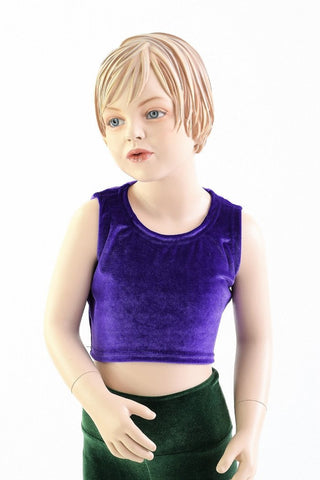 Girls Sleeveless Purple Top (TOP ONLY) - Coquetry Clothing
