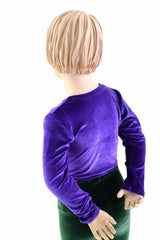 Girls Long Sleeve Purple Top (TOP ONLY) - Coquetry Clothing
