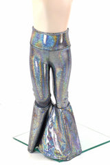 Kids Silver Holo Bell Bottom Flares - Coquetry Clothing