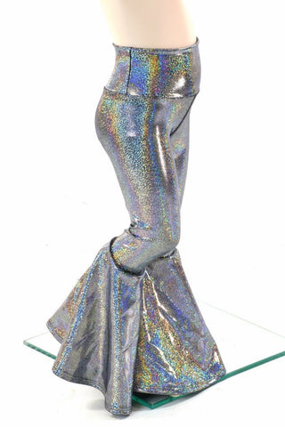 Kids Silver Holographic Bell Bottoms