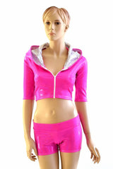 Neon Pink Dragon Hoodie Set - Coquetry Clothing