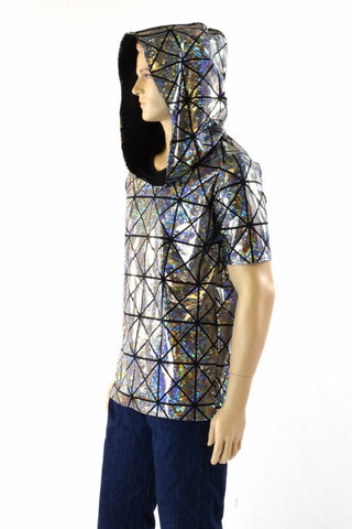 Mens Black & Silver Hoodie - Coquetry Clothing