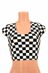 Checkered Crop Top - Coquetry Clothing