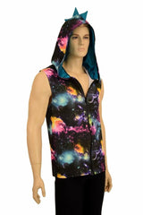 Mens Galaxy & Peacock Dragon Hoodie - Coquetry Clothing