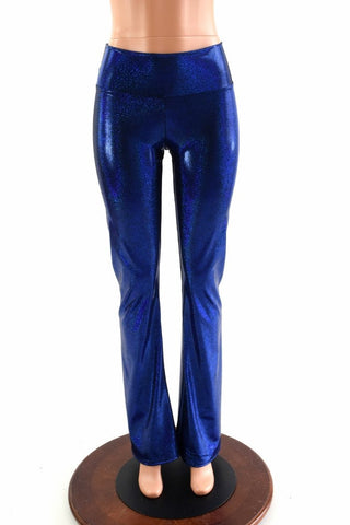 Blue Sparkly Jewel Boot Cut Leggings - Coquetry Clothing