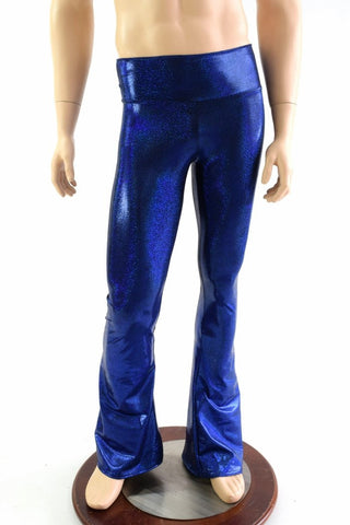 Mens Blue Bootcut Pants - Coquetry Clothing