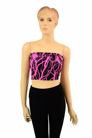 Pink Lightning Tube Top - Coquetry Clothing