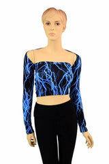 "Blue Lightning ""Samba Sleeve"" Dance Shrug - Coquetry Clothing"