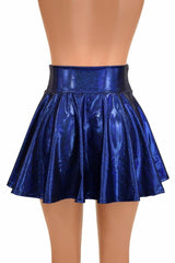 Blue Sparkly Jewel Mini Rave Skirt - Coquetry Clothing