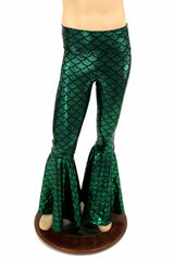 Mens Green Bell Bottom Flares - Coquetry Clothing