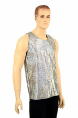 Mens Silver Muscle Shirt - Coquetry Clothing