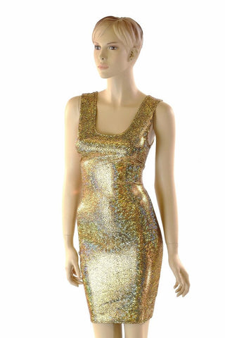 Shattered Glass Holographic Tank dress - Coquetry Clothing