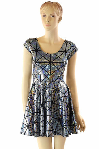 Cracked Tiles Skater Dress