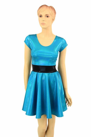 "Peacock ""Bubbles"" Skater Dress - Coquetry Clothing"