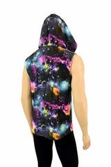 Mens Sleeveless Galaxy Hoodie - Coquetry Clothing