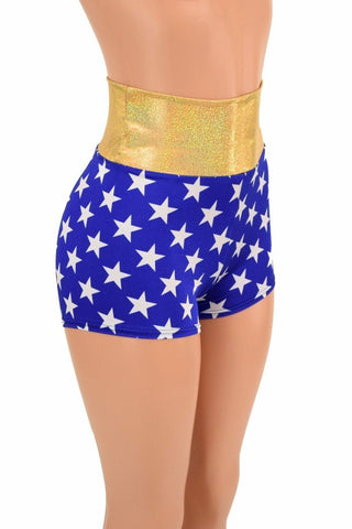 High Waist Super Hero Shorts - Coquetry Clothing
