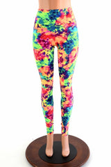 Acid Splash High Waist Leggings - Coquetry Clothing