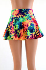 Acid Splash Mini Rave Skirt - Coquetry Clothing