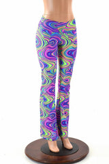 Neon Glow Worm Boot Cut Leggings - Coquetry Clothing