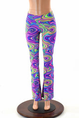 Neon Glow Worm Boot Cut Leggings