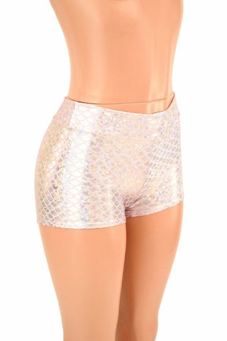 Pink Mermaid Midrise Shorts - Coquetry Clothing