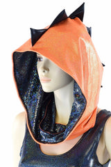 Orange & Black Short Festival Hood