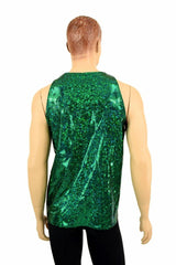 Mens Green Shattered Glass Muscle Tank - Coquetry Clothing