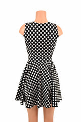 Polka Dot Pocket Skater Dress - Coquetry Clothing