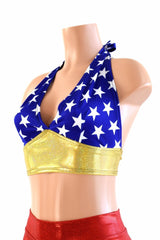 Wonder Woman Inspired Darted Tie Back Halter - Coquetry Clothing