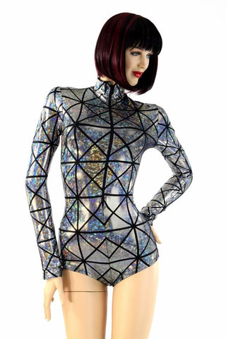 "Cracked Tile ""Stella"" Zipper Romper - Coquetry Clothing"