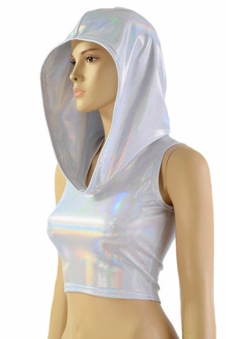 Flashbulb Sleeveless Crop Hoodie - Coquetry Clothing