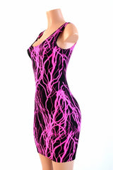 Neon Lightning Tank Dress - Coquetry Clothing