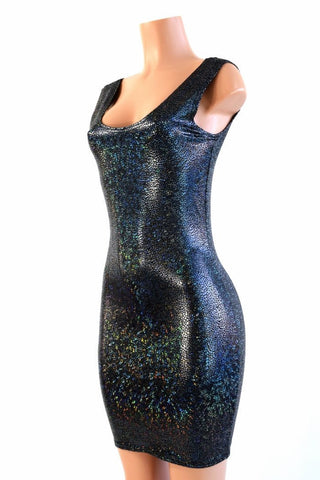 Black Shattered Glass Tank Dress - Coquetry Clothing