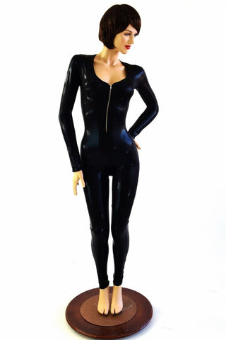Black Mystique Zipper Catsuit - Coquetry Clothing