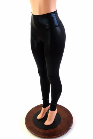 Black Mystique High Waist Leggings - Coquetry Clothing