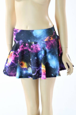 Galaxy Print Mini Skirt - Coquetry Clothing