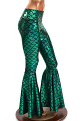 Mermaid High Waist Bell Bottom Flares - Coquetry Clothing