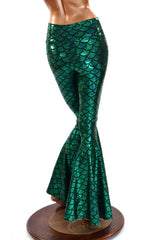 Green Mermaid Bell Bottoms - Coquetry Clothing