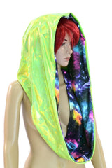 Galaxy & Green HUGE Reversible Festival Hood