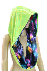 Galaxy & Green HUGE Reversible Festival Hood - Coquetry Clothing